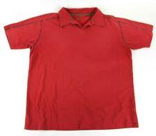 Patagonia Stretch Polo SS Shirt Red Slim Fit Organic Cotton Blend Mens XL
