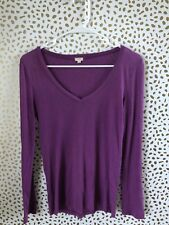 J. Crew women's purple long sleeve v neck size xs