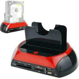 """2.5"""" 3.5"""" IDE SATA HDD Hard Drive Disk All In One Docking Station Card Base T8P8"""