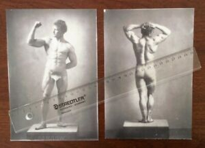 "Pair Vintage Photos (2) ""Sandow"".  Reproduction Of Originals.  Circa 1890."