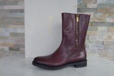 SANTONI Damen Stiefel Gr 37 boots Stiefeletten 53445 bordeaux NEU UVP 460 € €