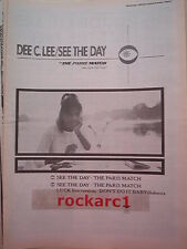 "DEE C LEE See the Day 1985 UK Poster size Press ADVERT 16x12"" (Paul Weller)"