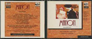 Luciano Pavarotti Manon Massenet 2 CD Live Recording Verona 27052/53