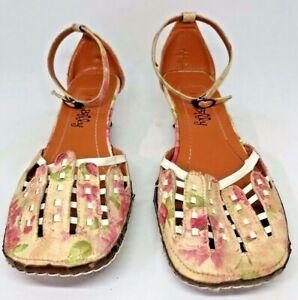 I Love Billy Sz 36 Minnesota Pink Floral Kitten Heel Ankle Strap Shoes