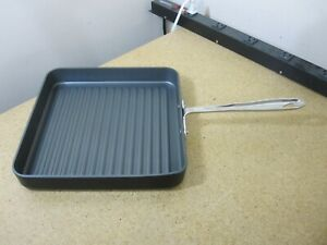 """All Clad 11"""" Ribbed Grill Skillet Griddle Pan Non-Stick NEW"""