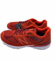 New Balance 990 V5 990 M990MS5 Red Mumbo Sauce Lava Men's Size 9.5