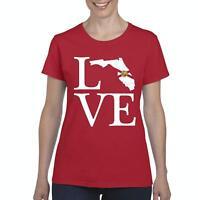 Love Florida  Women Shirts T-Shirt Tee