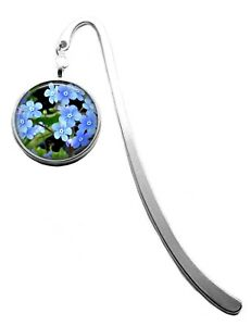 Silver Plated Forget Me Not Flower Photo Bookmark