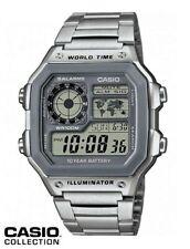 Reloj Digital CASIO AE-1200WHD-7A - Hora Mundial - 5 Alarmas - Temporizadores