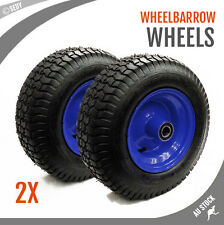 "2x 16"" 5.5x8 Wheelbarrow Wheel Barrow Trolley Cart Trailer Heavy Duty Spare 25mm"