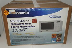 anasonic NN-SD664W Countertop Microwave with Inverter Technology, 1.2 Cu. Ft, 12