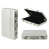 Business Credit Card Name Card Holder Case Box Metal Mini Briefcase Suitcase NP2