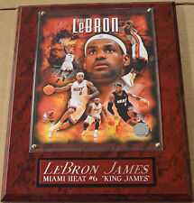 LEBRON JAMES MIAMI HEAT FRAMED 8 X 10 PHOTO WALL PLAQUE-SIGN-MAN CAVE ART-POSTER
