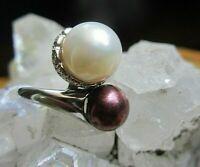 imposanter ring silber 925 mit zucht perlen 7,1 g 17 mm  neuw