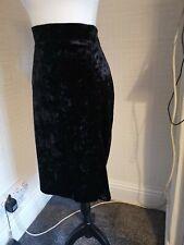 Marks and spencer Size 20 Crushed Velvet pencil skirt Black stretch