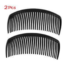 New 2 Pcs Practical Superior Black Plastic Comb Hair Clip Clamp for Ladies LW