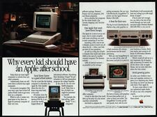 1985 APPLE IIc Personal Computer Imagewriter II Printer Color Moniter VINTAGE AD