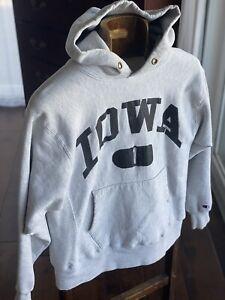 VTG USA Iowa Hawkeyes Champion Sweatshirt Reverse Weave 80s USA Mens L hoodie