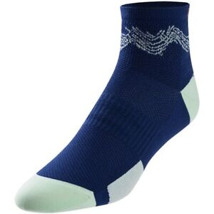 2 Pairs Pearl Izumi Women's Elite Low Cut Socks Midnight Navy Phyllite Sz Small