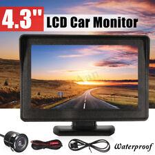 4.3'' Car Rear View LCD Monitor Kit + Night Vision Reverse Parking Backup Camera