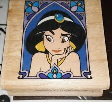 Aladdin, jasmine portrait, disney,rubber stampede,110,rubber , wood