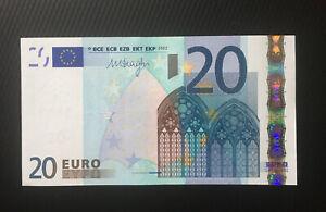 20 euro banknote 2002(2011)UNC P-16x Prefix-X Germany Sign Draghi European Union
