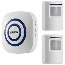 Motion Sensor Alarm Wireless Home Security Driveway Detect Alert W 2 & 1 Receive