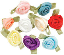 Offray Ribbon Roses 40/Pkg-Assorted Colors, 14019-C1