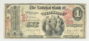 Series 1875 First Charter $1 from The National Bank of Potsdam, New York #868