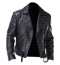 Ghost Rider Nicolas Cage elegantes chaqueta de cuero de motociclista Casual Wear