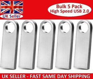 Bulk 5 Pack Mini USB 2.0 Memory Stick Flash Pen Thumb Key Drive 4/8/16/32GB