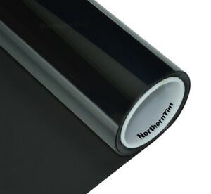 "Window Tint Roll 20% vlt -Dark Tint - 10""x6' - Windshield Sun Strip Tint"