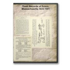 Town Records of Salem, Massachusetts 1634-1691: 3 Volumes On CD - D519