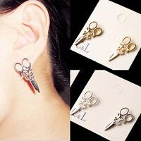1Pair Women Earrings Ear Studs Unique Scissors Punk Earring Trendy Jewelry SP