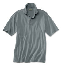 Mens Orvis Montana Morning Polo Shirt Blue Rugby Cotton Collared NWT Medium