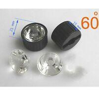 20x Led Lens 60 Degree For 1w 3w Lamp & Black Holder