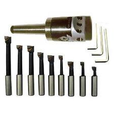 Tête à Aléser CM3 + 9 outils barre à aléser Précision 1/100 Cone Morse 3