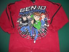 Boys short sleeve dark red Ben 10 zip hoodie jacket    Size 5