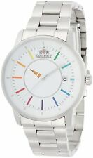 ORIENT STYLISH AND SMART DISK WHITE RAINBOW WV0821ER Men's Watch New in Box