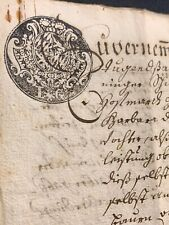 SEALED MARRIAGE CONTRACT 1781    4 pages