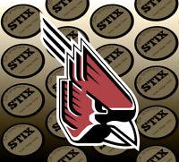 Ball State Cardinals Logo NCAA Die Cut Vinyl Sticker Car Window Bumper Decal