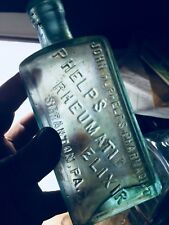 ANTIQUE QUACK NOSTRUM PATENT PHELPS RHEUMATIC ELIXIR SCRANTON PA 1800S BOTTLE