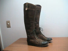 Womens 8 Jeffrey Campbell Free People 'Ridem' Brown Distressed Field Boots, $280