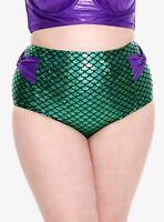 8116f2ab3032c DISNEY The Little Mermaid Hot Topic Green Ariel High Waist Bikini Bottoms  2X New