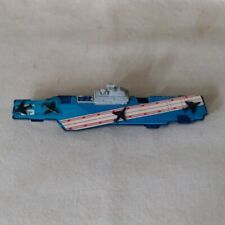 Vintage Tootsietoy Aircraft Carrier Toy Ship 1970s Complete Made in Usa