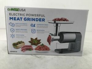 GoWISE USA 4-in-1 Electric 2000W Meat Grinder w/Stuffing Tubes&3-Grinding Plates