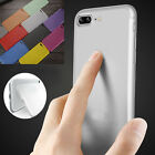 Thin Black Transparent Hard Plastic Back Case For iPhone 7 Plus 6S L