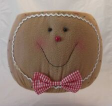 XLg GINGERBREAD HEAD BASKET~XMAS~ DISPLAY~PLANTS~DECORATION~TABLE TOP~ROLLS
