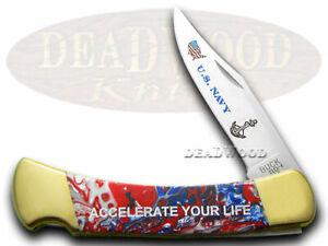 Buck 110 US Navy Folding Hunter Knife Star Spangled Banner Corelon 1/400 420HC