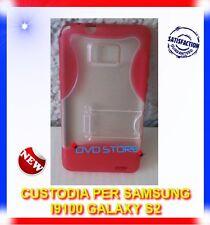 Custodia+Pellicola Stand ROSSA per Samsung Galaxy S2 i9100 plus I9105